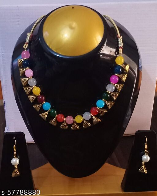 Oxidized Gold jewellery Set with Earrings