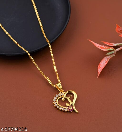 FENCY RUBY LETTER CHAIN PENDENT SET.... Necklaces & Chains