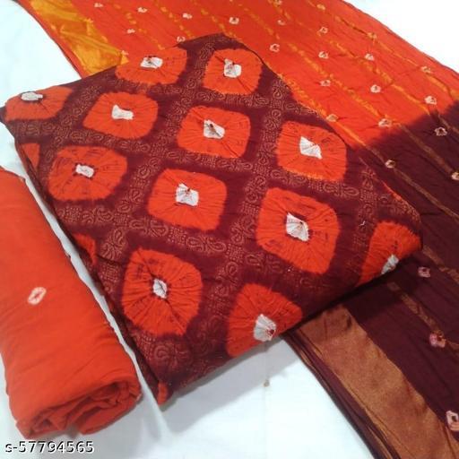 Varnaas Attractive Designer Bandhej Chudidhar Materials