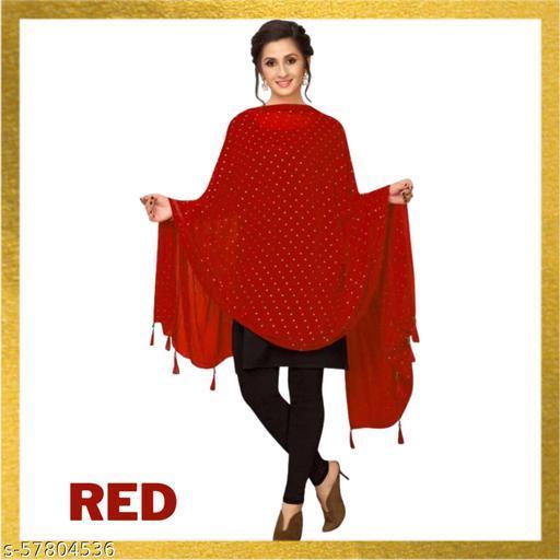 New Trend nazmeen star dupatta (red)