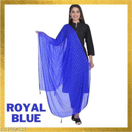 New Trend nazmeen star dupatta (royal blue)