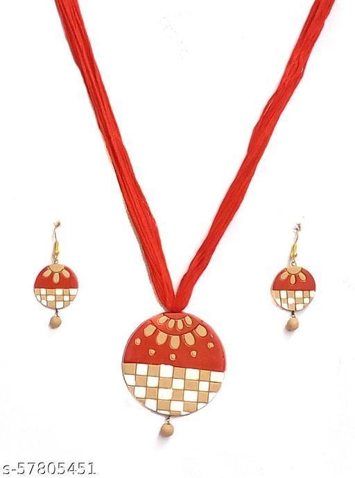 Elegance & U's Red, White & Beige Jewellery Sets