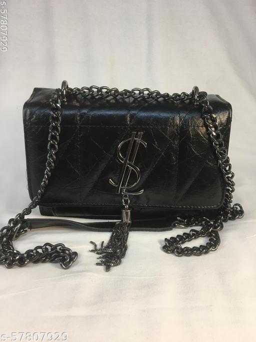 YSL BRAND BLACK SLING BAG