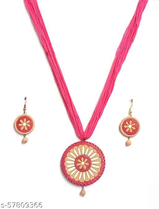 Elegance & U's Pink, White & Beige Jewellery Sets