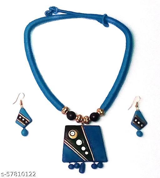 Elegance & U's Turquoise, Black, White & Golden Jewellery Set