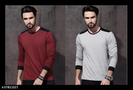 """STELINO""""Trending""""  Multicoloured Full T-Shirt Combo for Men"""
