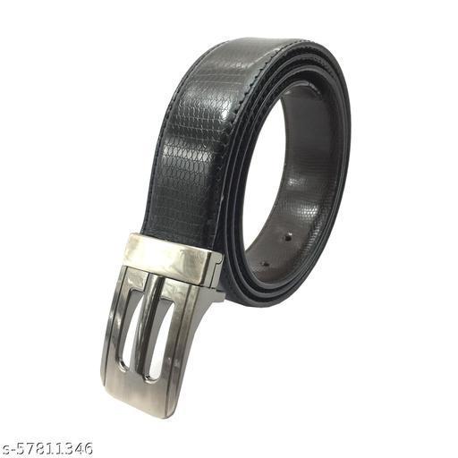 SAGIRON ® Men Evening, Party, Formal, Casual Black Cobra Genuine Leather Belt