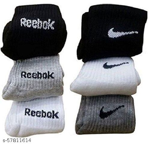 Combo of branded socks (Pack of 6 socks)
