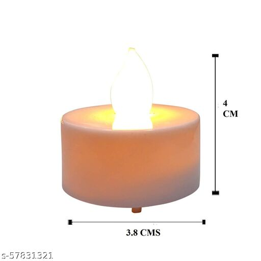 SMK GUNJ  Smokeless LED Candle Tealight Diya for Home Decor & Diwali Lights Decorative Lights for Home Wall Lighting Decoration (Made in India) (Pack of 5, Warm Yellow)