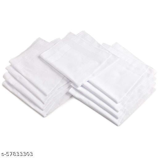 100% Cotton Handkerchiefs For Men, Size 45CM XL (12 Pcs)