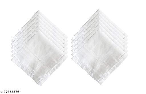 100% Cotton Handkerchiefs For Men, Size 45CM XL (24 Pcs)