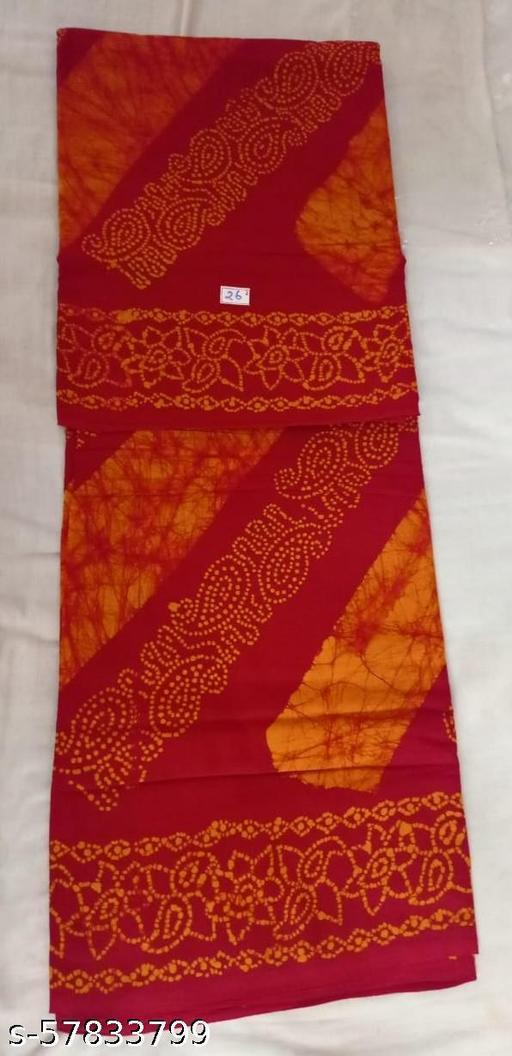 Madurai Maruthi OSP Sungudi Sarees - 10.5 Yards Soft Vayal Sungudi Saree with Running Blouse - 11