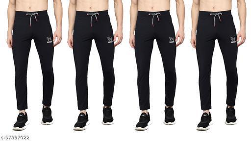 WANSIN Designer Unique Mens Track Pants stretchable dry fit wicking 2 zipper pocket Sizes