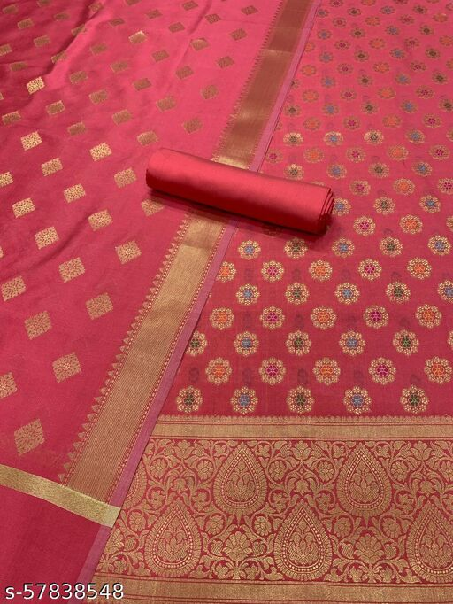 Exclusive Banarsi Jaquard Multi Mina Silk Suit And Dress Material