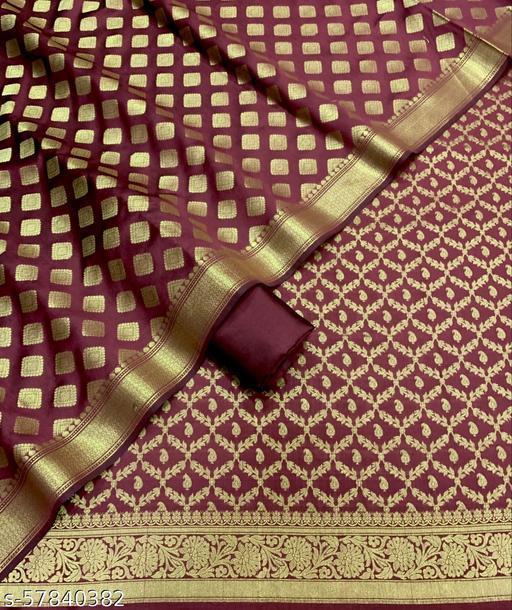 Fabulous Banarsi Jaquard Silk Suit And Dress Material