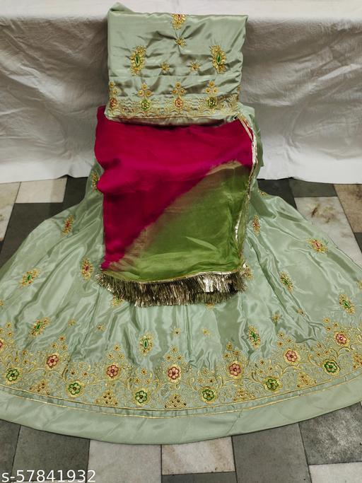 Embroidery Rajputi Dress Lehnga, Kurti Duptta(Odni) with Turi Lace