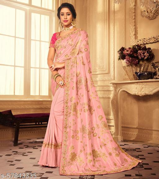 Laxmipati Param Sundari 7065 Tangail Silk Peach Sarees With Cotton Petticoat