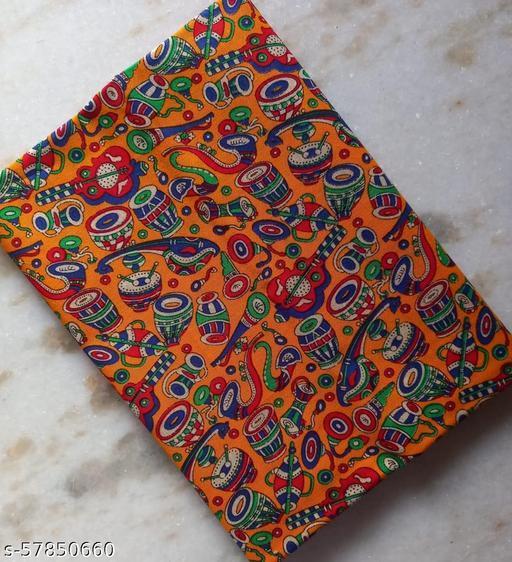 Women Cotton Printed Kalamkari Blouse Design Piece