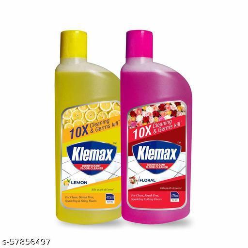 Klemax Floor Cleaner, Combo [Lemon - 475 ml + Floral - 475 ml]