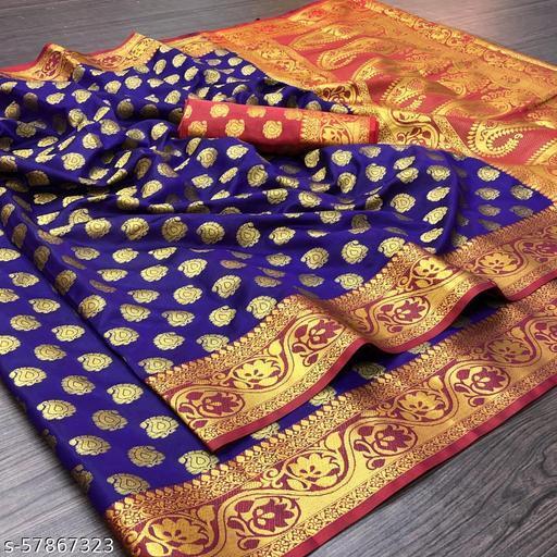 trendy kanjivaram silk saree with pure golden zari  blouse