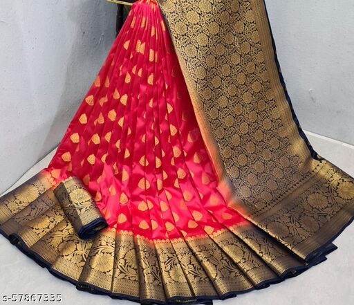latest kanjivaram silk saree with pure golden zari  blouse