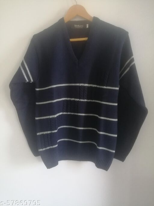 SUPERIOR SRTIPPED  MEN'S SWEATER
