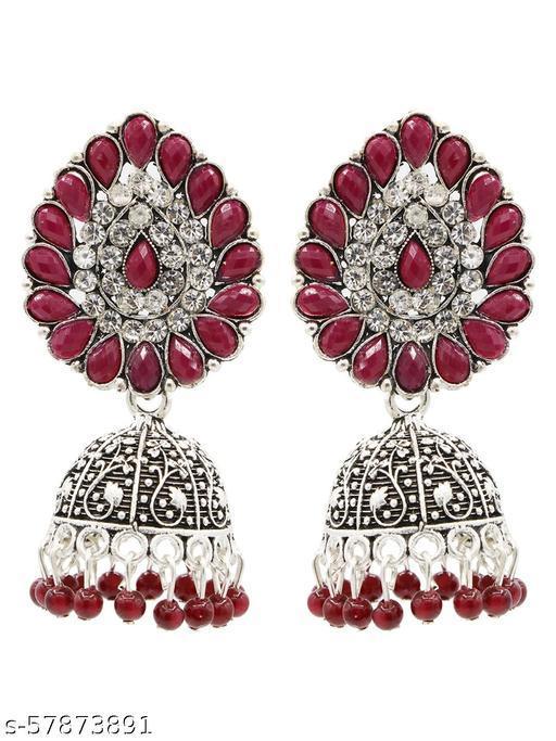 Asmitta Oxidised Silver Jhumki Earring for Women