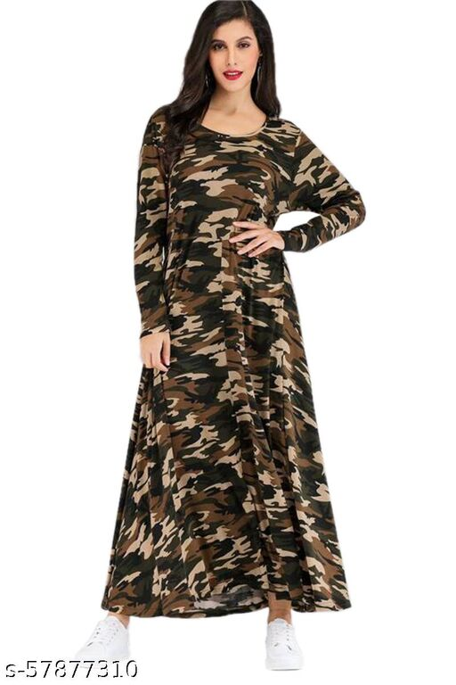 Morbrix   Women's Fit And Flare A-Line Milatary Western cotton Dress