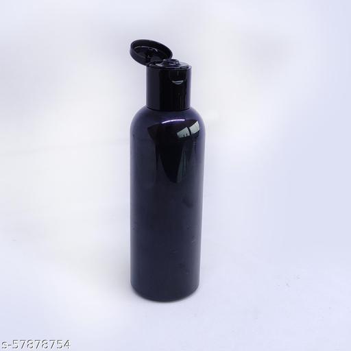 Maheshwari Caps Pack of 10, 100 ml Pet Bottle with Flip Top Cap Empty Refillable Bottles used in Cosmetic and Makeup Oil, Liquid, Fogging (Black)