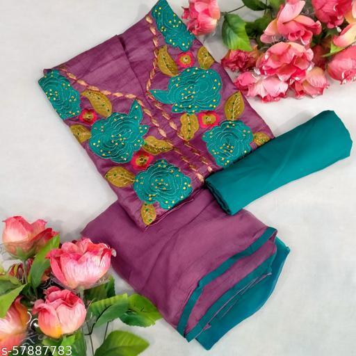 Purple designer salwar suit Material