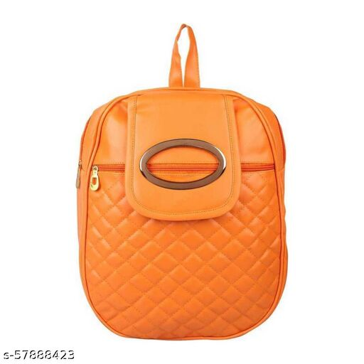 Orange color Exclusive and Stylish Handbag for Girls for Teachers / College / Fund / Study / Office use