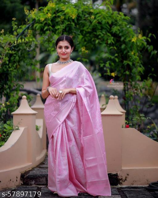 silver zari silk soft saree