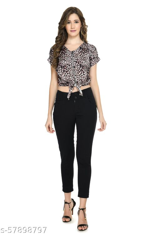 SVE Women satin stylish regular top with short sleeves