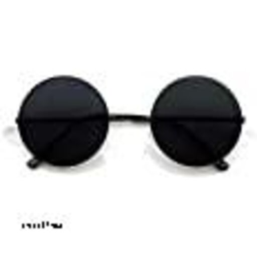 Round Men's and Women's Sunglasses (Full Black, Medium)