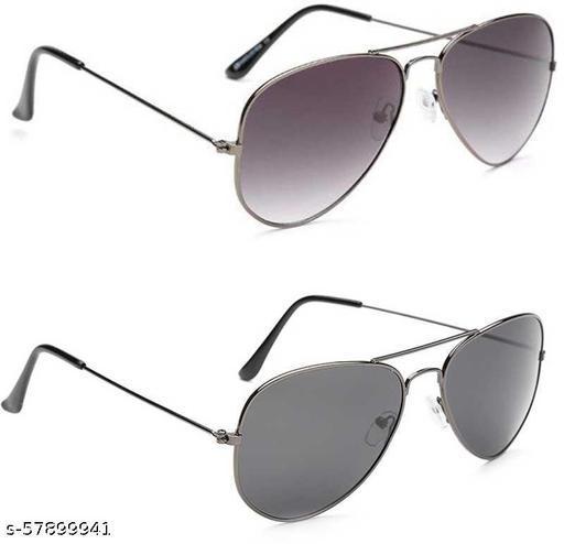 UV Protection, Gradient Aviator Sunglasses (57)  (For Men & Women, Grey, Black)