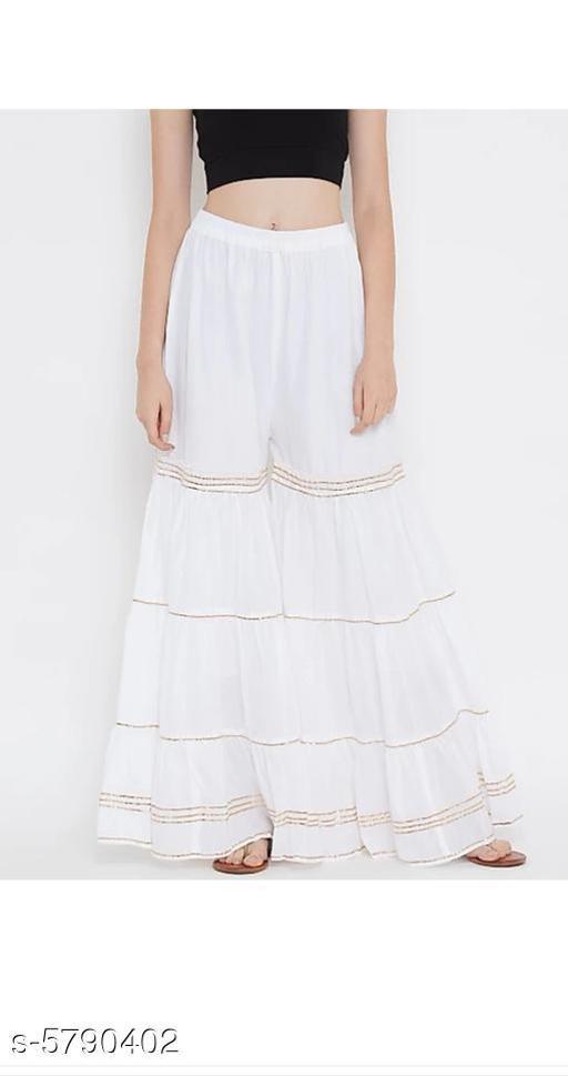 Trendy Cotton Blend Women's Shararas