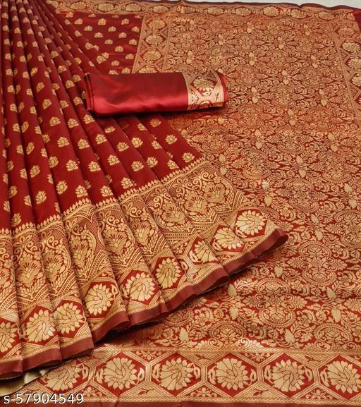 Forum kanjivaram silk saree with zari blouse