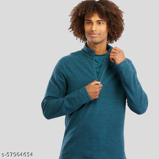 Men's Plain Half Zipper Winter Sweater Sports wear/Casual Wear/Office Wear/Good for Traveling