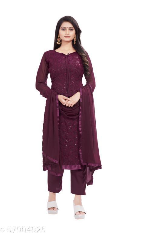 R R FASHION presents new embroiderd sonpari unstiched suits