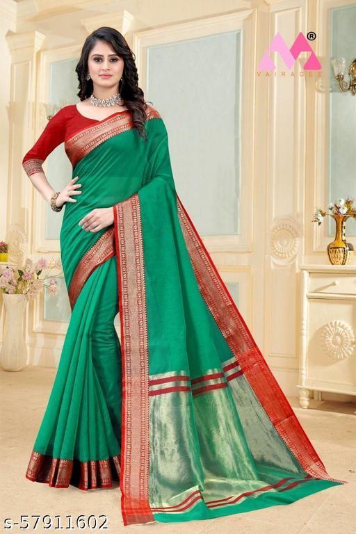 SONI-CREATION Women's Banarasi Soft Silk Saree with Unstitched Blouse Piece