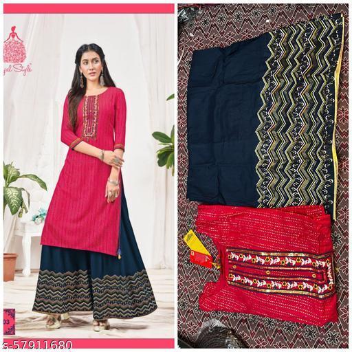 SONI-CREATION Women's Jam Satin Un-Stitched Dress Material