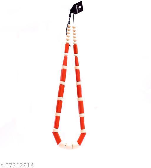 Orange and Beige color Necklace