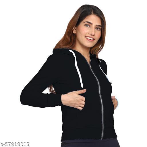 ROARERS  Full Sleeve Solid BLACK Women Sweatshirt