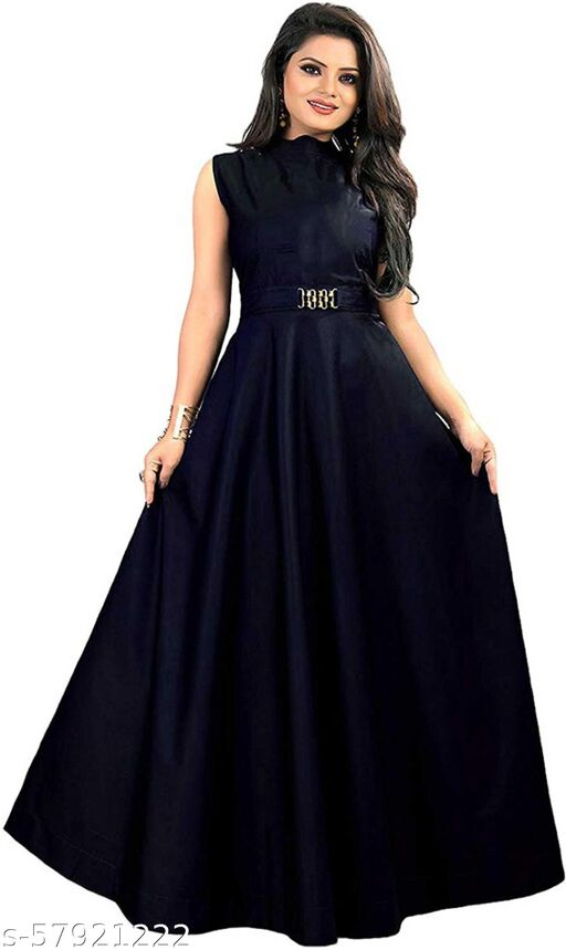 IkonikbeZ's Tafetta Fabric Blue Color Gown