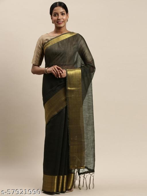 Anwesha Sarees Specious Mehendi Coloured Saree With Blouse