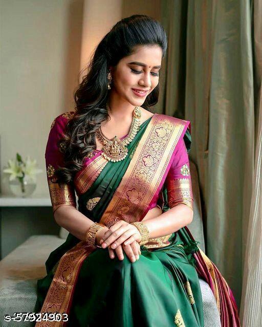 New Kanjeevaram Silk Saree With Unstitched Blouse