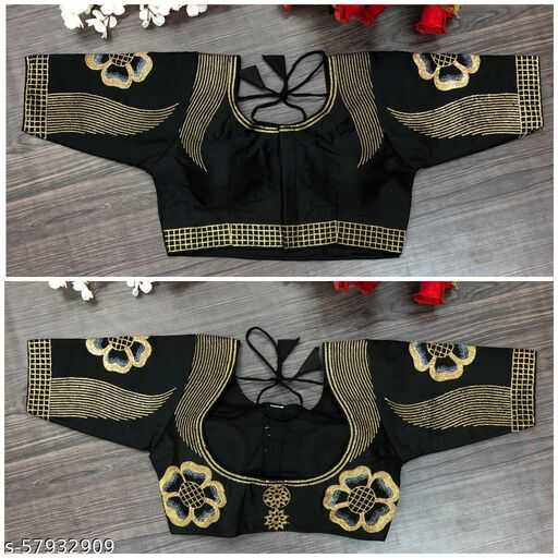 Vihu fashion's new readymade embroidery & sequine work  blouse  for women ethnic wear
