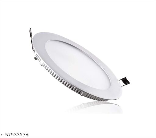 SATIN LITES Round Surface Mounted Panel Light Cool Day White (Pack of 1)/False Ceiling Light