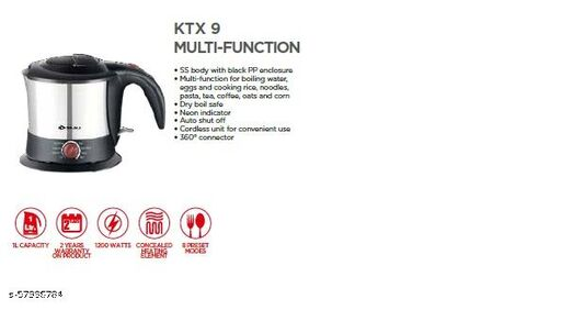 KTX 9 MULTI FUNCTION KETTLE