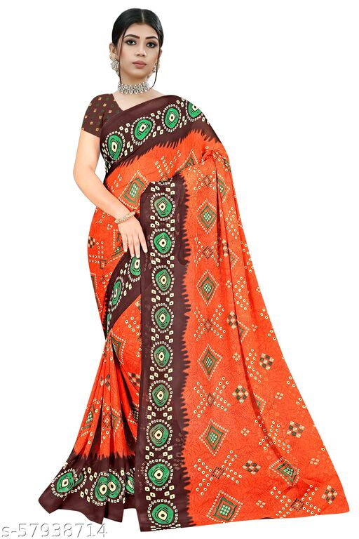 Miven sarees Printed Daily Wear Georgette Saree